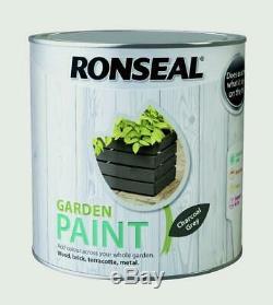 Ronseal Extérieur Jardin Peinture 2,5l Idéal Pour Clôture En Bois / Brique / Métal Gris Anthracite