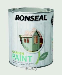 Ronseal Extérieur Jardin Peinture 750ml Pour Bois D'extérieur En Métal Brique Toutes Les Couleurs