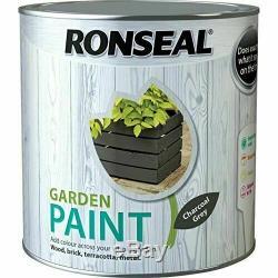 Ronseal Jardin Peinture Gris Anthracite 2,5 L Pour Brique, Bois, Terre Cuite Et Métal