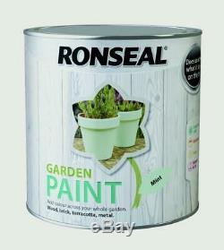 Ronseal Mint Fini Jardin Extérieur Peinture 2,5l Idéal Pour Clôture En Bois / Brique / Métal