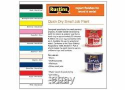 Rustins Petit Emploi Gloss Et Couleur Satin Peinture Utilisation Intérieur Et Extérieur Pour Bois En Métal