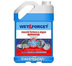 Wet And Forget Meilleur Moss & Mould Lichen Algues Remover 5 + 2 Litres Bundle