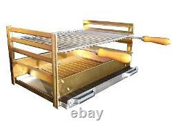 XXL Brick Extérieur Bbq Maçonnerie Barbecue Méditerranéen, Cheminée Et 60 X 40 Grill