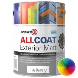 Zinsser Allcoat Exterior All Surface Water Based Paint Weather Resistant